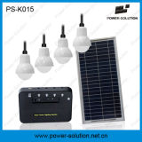 Kit comprable del panel solar con 4PCS los altos bulbos del lumen LED y cables 5meter