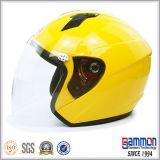 순수한 회색 열리는 마스크 기관자전차 스쿠터 헬멧 (OP206가)