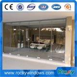 Porte d'entrée extérieure de plein ressort en verre