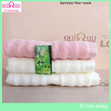 100%Bamboo Fiber Face Towel From Cina Factory