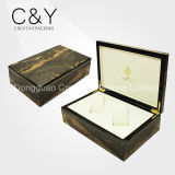Cadres en bois pour la montre deux empaquetant le cadre de montre en bois de luxe