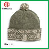 Шерсти повелительницы Тепл 100% Bobble шлем (CPA-1163)