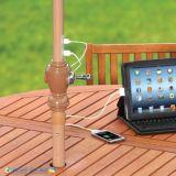 Ombrello esterno del giardino di energia solare con il USB
