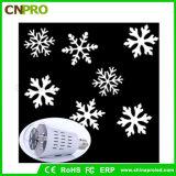 Bulbo de lâmpada movente do projetor do laser do floco de neve do diodo emissor de luz de E27 4W para o Natal