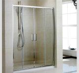 Mur rectangulaire moderne de douche en verre de glissement de compartiment d'armature