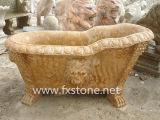 Vasca da bagno di marmo intagliata mano (Bj-feixiang005)
