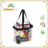 Sacos personalizados do punho do PVC para viajar/saco desobstruído elegante do PVC do plástico
