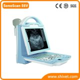 Explorador veterinario portable del ultrasonido (SonoScan E6V)