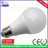 PC + алюминиевый свет шарика снабжения жилищем E27/B22 A19/A60 15W СИД