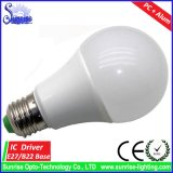 PC + 알루미늄 주거 E27/B22 A19/A60 15W LED 전구