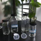 スパイスの瓶、100ml 4つのOz (120ml)の8oz 5つの穴のシェーカーの備品が付いているガラススパイスの瓶