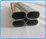 El plano de acero inoxidable echó a un lado los tubos ovales (los tubos)