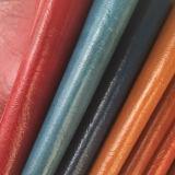 Полированная способом кожа PU синтетическая для ботинок