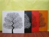 Moderner abstrakter Baum, der handgemalten Segeltuch-Anstrich (F5050, malt)