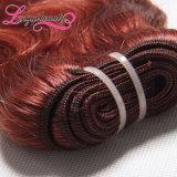 高品質の安く未加工ブロンドのRemyのインドの毛の織り方