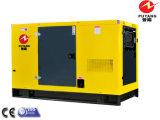 75kw refroidi à l'eau au générateur diesel silencieux de 450kw Shangchai avec le réservoir de carburant 8hours bas