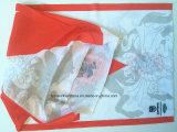 OEM 생성에 의하여 주문을 받아서 만들어지는 로고 파란 소녀의 인쇄된 폴리에스테 관 담황색 밴대나