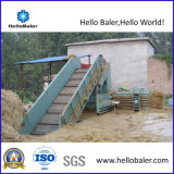 Prensa hidráulica horizontal do feno com operação automática