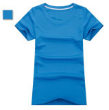 T-shirt de mulheres amarelas no material de Bicool