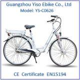 中断シートのポストが付いている電気自転車