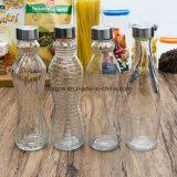 Fles van het Glas van de fabriek de In het groot Transparante Duidelijke Vloeibare (100012)