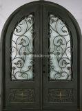 Portas de entrada arqueadas do ferro costume decorativo elegante