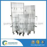 Ventes chaudes barrière en expansion portative de garantie d'aluminium et d'acier