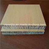 Los paneles de aluminio del panal del color de madera para el uso marina