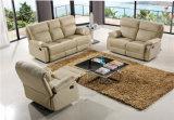 O melhor sofá do couro da qualidade ajusta a mobília manual da função para a sala de visitas usada