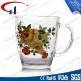 360ml Mok de van uitstekende kwaliteit van het Glas met Bloem Decaled (CHM8077)