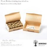 Hongdao Venta al por mayor de bolsas de té de madera inacabada caja de embalaje con tapas con bisagras _E