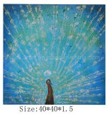 Canvas (LH-700625)에 도매 Handpainted Peacock Oil Painting