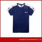 Obscuridade da fábrica do OEM - fabricante azul da camisa da impressão T da tela de seda (R28)