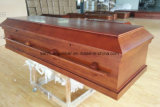 Ataúd de la cremación de madera sólida del álamo
