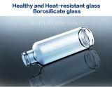 Bonne qualité, personnalisé 480ml Bouteille en verre à eau riche en hydrogène