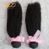 卸し売りモンゴルのバージンの人間の毛髪のねじれたカールの毛の拡張