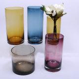 De kleurrijke Vaas van de Bloem van het Glas van de Vorm van de Cilinder voor het Huis van de Decoratie