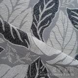Tissu de Chenille teint par filé de jacquard d'amorçage d'or pour le sofa