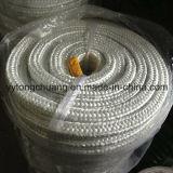 Tipo de isolamento de alta temperatura Fibra de vidro Trançado Corda de embalagem quadrada