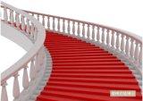 Moquette rosse del pavimento del passaggio pedonale di bisogno del punzone del poliestere del PE del filato del tessuto di mostra di evento di cerimonia nuziale di Wed della navata laterale del rullo del corridore della scala del corridoio dell'ufficio dell'esposizione esterna di evento