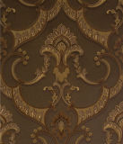 Papel pintado profundamente grabado del damasco del diseño de Italia