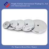 Assembly magnético Pot Magnets Round Base Magnet para Holding