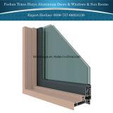 Puerta colgante de ofrecimiento del aluminio de la fábrica de Foshan con la doble vidriera