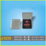 Rectángulo plástico transparente barato para los clips de lazo