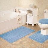 3 комплекта половых ковриков двери ковров половиков туалета ванны ливня ванной комнаты ванны Pieces/PCS