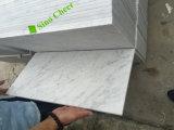 Azulejo de mármol blanco de mármol blanco italiano del cuarto de baño del diseño del suelo de Statuario/mármol blanco de Carrara para la venta