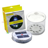 Indicatore luminoso di campeggio gonfiabile di energia solare della lanterna solare bianca portatile del LED