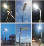 El detector de movimiento enciende la calle solar pública accionada solar de postes ligeros de calle de Lightin