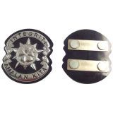 Emblema esmaltado macio chapeado prata da liga do metal