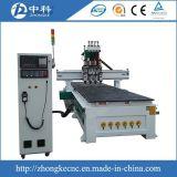 Router em mudança do CNC do cortador do cilindro de quatro cabeças